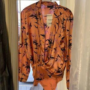 Zara orange bodysuit